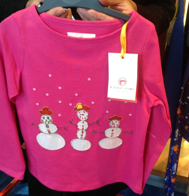 Kids Company Snowman top