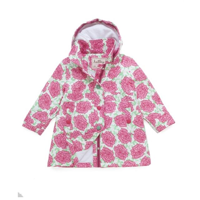 Hatley Splash Jacket Pink Roses zoom