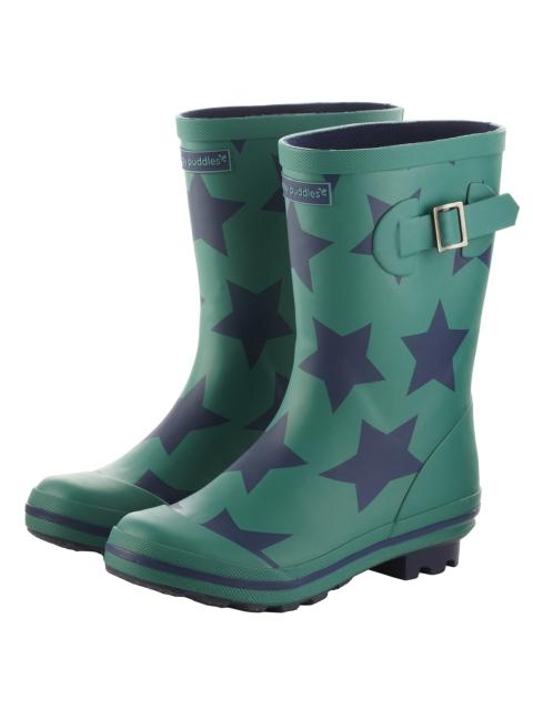 blog rainaccess PRINTED WELLIES GREEN STAR