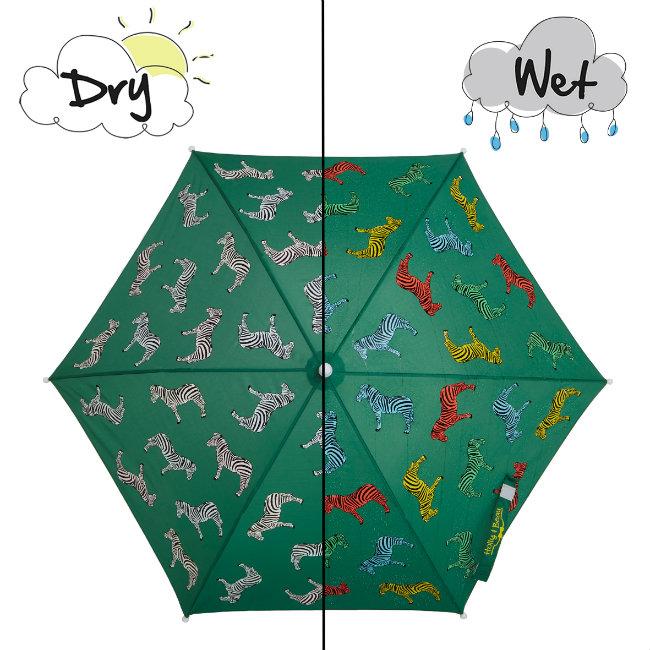blog rainaccess Zebra umbrella wet and dry