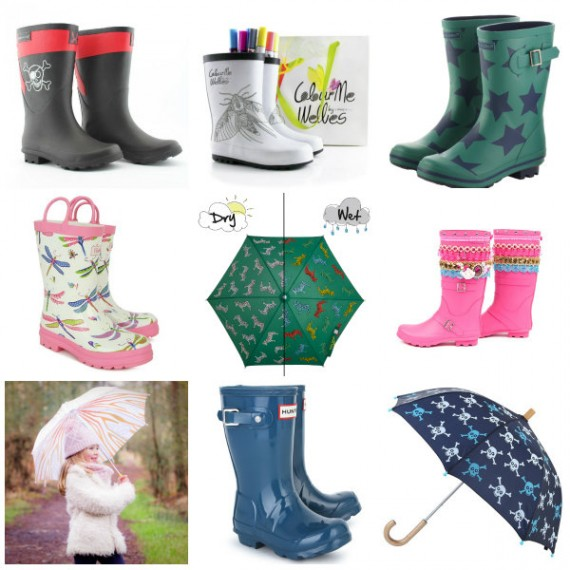 rain accessories collage