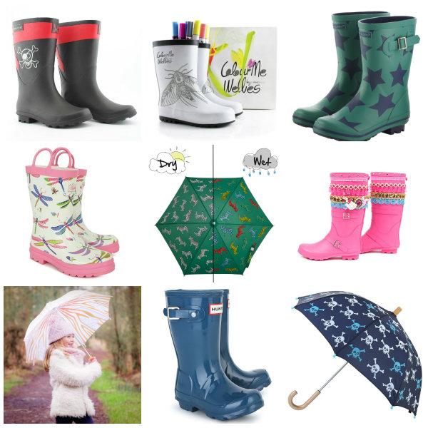 rain accessories collage