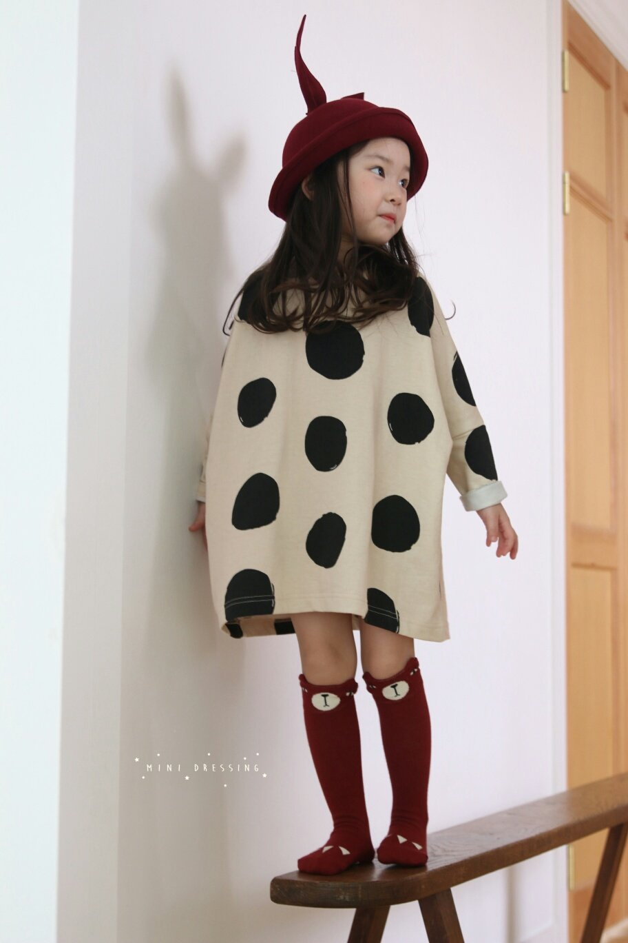 Mini Dressing dots long t shirt Lublue