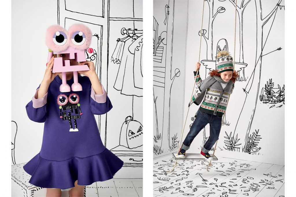 Fendi and the little monsters campaign shoot
