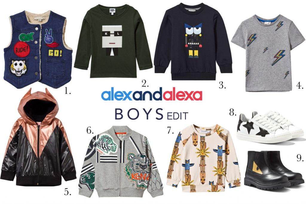 Boys Clothing Edit from Alex and Alexa