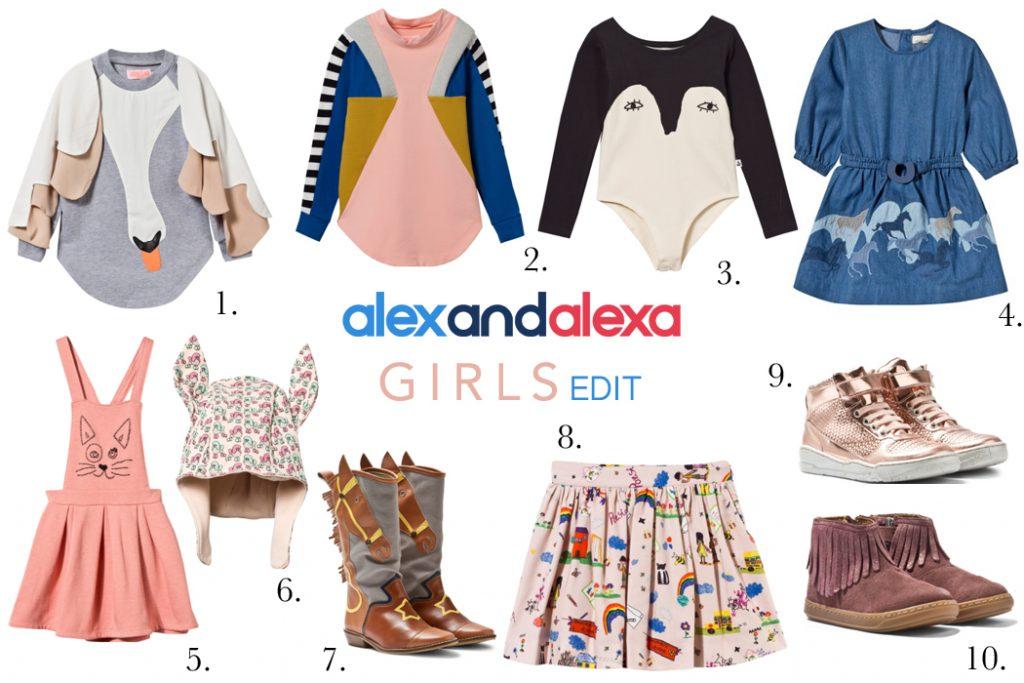 Alex and Alexa Girls clothing edit Aw16
