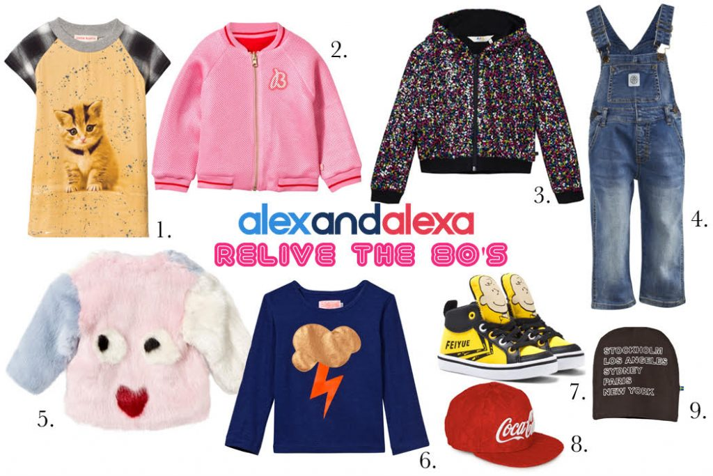 Relive your 80's childhood with these throw back inspired pieces from Alex and Alexa