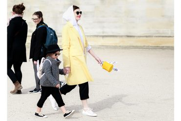 Mum and Mini Style: Paris Fashion Week Street Style from Edgy Cuts