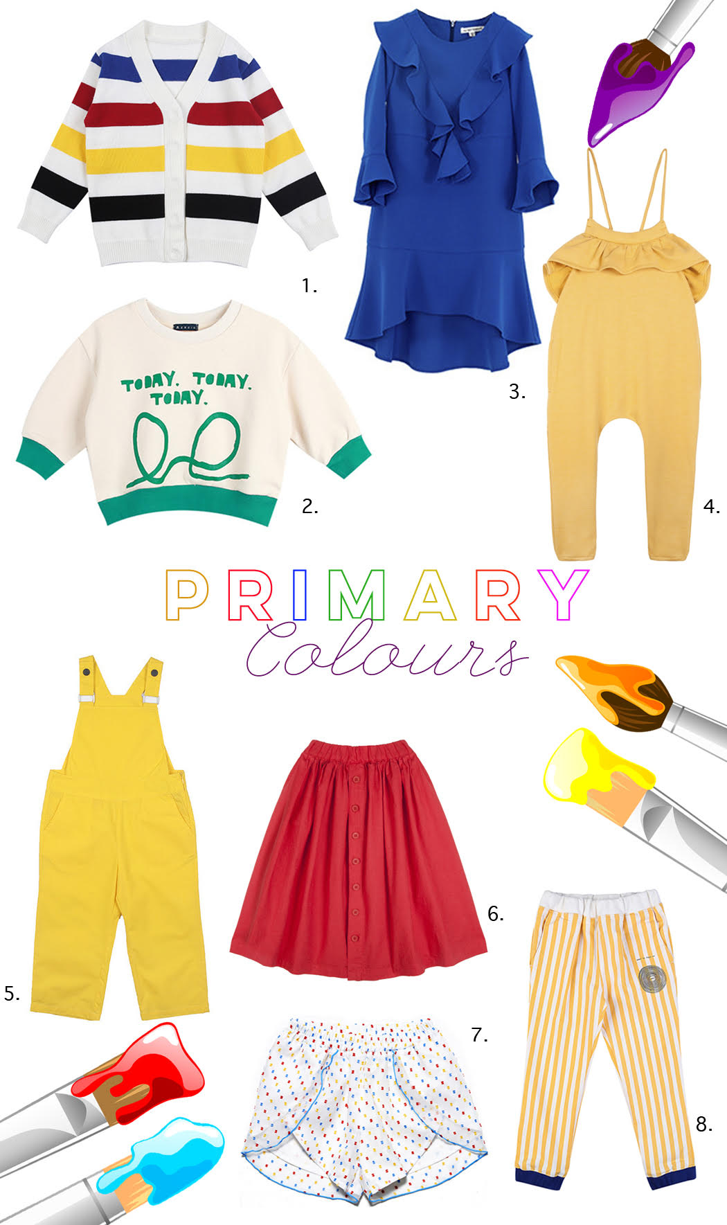 Junior Style Blog Korean Brands Edit by Sylvia Yim Primary Colours #kidsfashion #koreanbrands