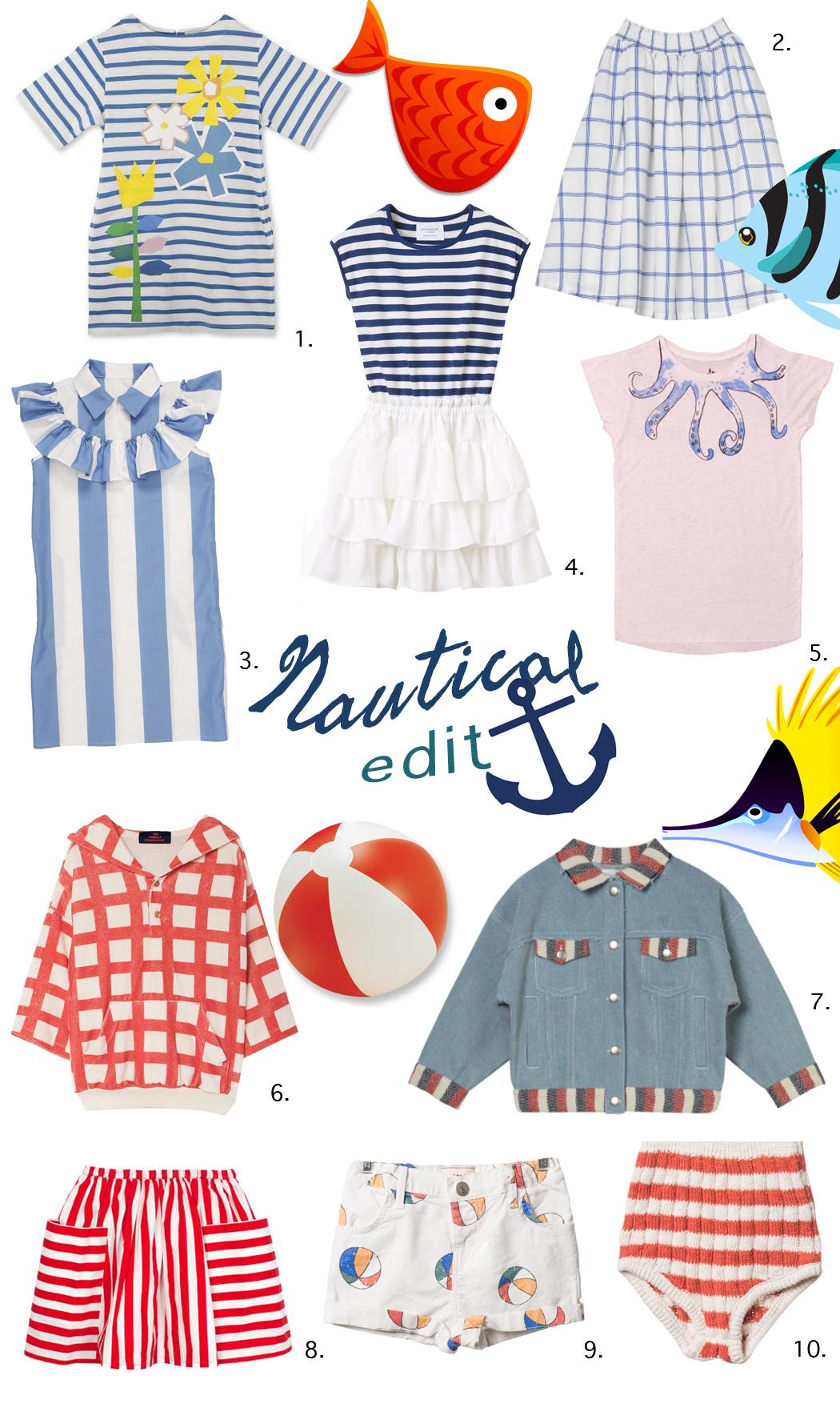 Junior Style Kids Fashion Blog - New Nautical Trends #kidsfashion #kidstyle, #edit #trends #nautical