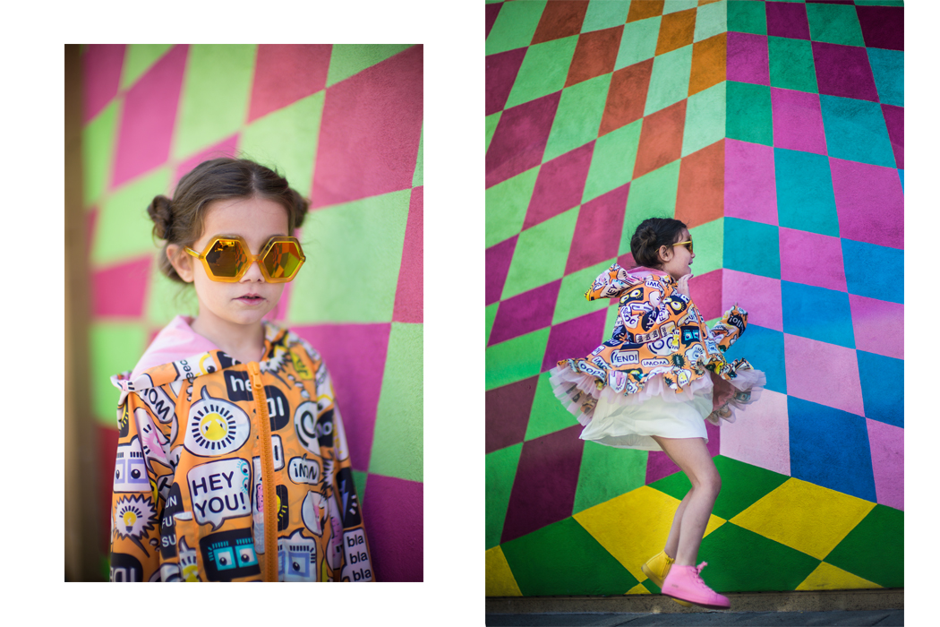 Junior Style Blog - How to Layer A Rainbow by Julia Rozenfeld, a fun editorial on the Junior Style #kidsfashion #fendi #chloe #girlsfashion #ss17 #littleragsandriches #lolkidsarmonk #designer