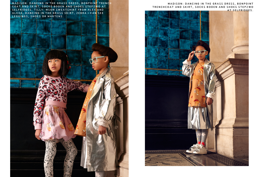 Junior Style The New Bohemians Editorial by Hannah Caotes and Becky Seager #editorial #kidsfashionmagazine #childrensapparel #designer #alessandromichel