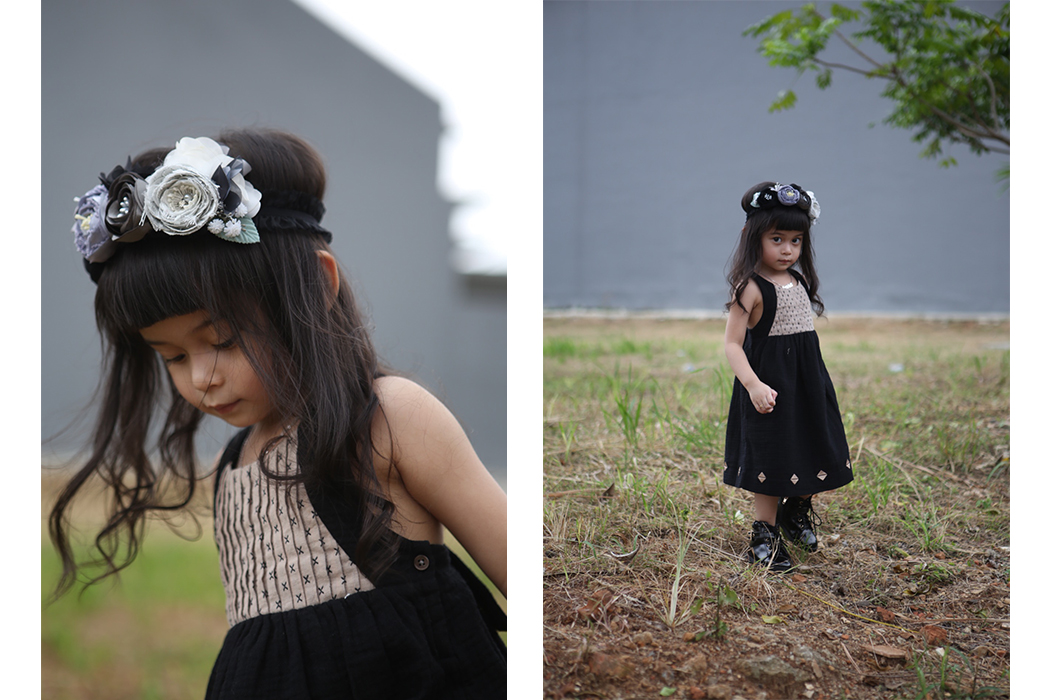 Junior Style Editorial - Guest Post By Ixora and Ayuko Eid Celebration Outfit from Oaks of Acorn #oaksofacorn #girlswear #eidoutfit €instagraminfluencer #juniorstyle #kidsfashion #kidswear #kidstyle