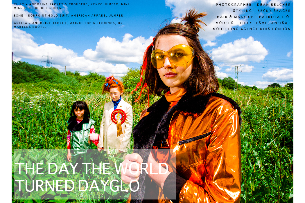Editorial - The Day The World Turned Dayglo by DEan Belcher and Becky Seager #beckyseager #deanbelcher #dayglo #kidsfashion #juniorstyle #kidsfashioneditorial #kidsfashionphotography #editorial #ontheblog #kidsfashionblog