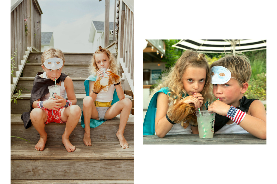 Superheroes On Vacation and editorial by Josh Rothstein and Stylist Jill rothstein #kidseditorial #superhero #superheroes #kidsswimwear #swimwear #holiday #vacation #jillrothstein #joshrothstein #editorial #photography #kidsphotography #coolkids #kidshavingfun #dressup #dressingup #costumes #superherocostumes
