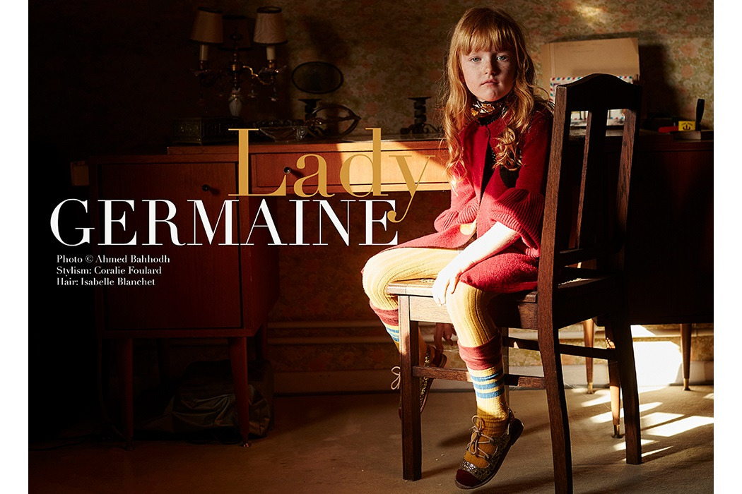 Editorial Lady Germaine By Ahmed Bahhodh #kidsfashioneditorial #kidswear #knitwear #juniorstyle #photography #juniorstyle ahmedbahhodh