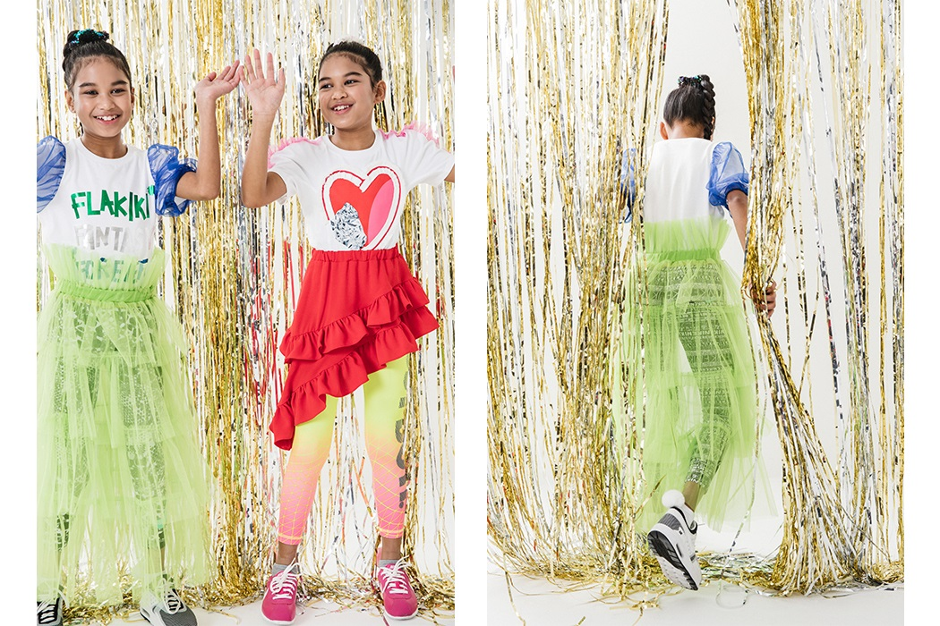 All the Way Up by Meg Stacker and KellyB Stylist, featuring Djs Amira and Kayla wearing Flakiki #juniorstyle #twins #djs #flakiki
