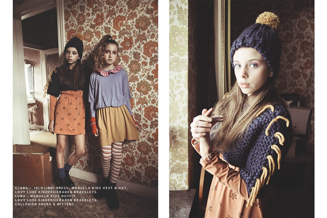 Editorial by Muriel Joye, Little House featuring independent Kids fashion brands