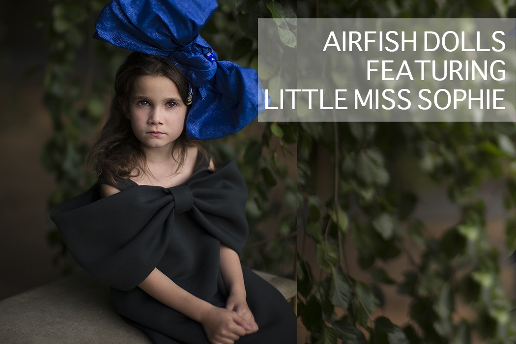 Little Miss Sophies Closet wears Airfish Dolls Kidswear Elegant Girls Dresses from their Latest Collection from Lol Kids Armonk or Airfish Official