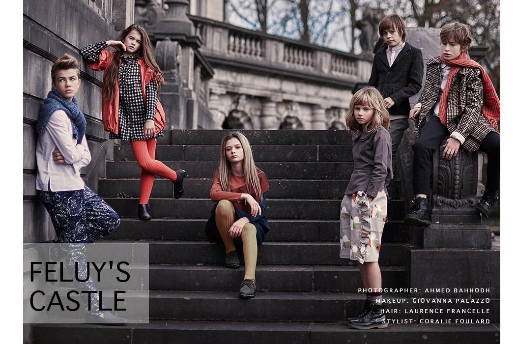 Feluy's Castle a kids fashion editorial by Ahmed Bahhodh #kidswear #ahmedbahhodh #feluyscastle #wolfandrita #thesmallgatsby #infantiumvictoria #devonsdrawer #oaksofacorn #juniorstyle #kidsfashionblog