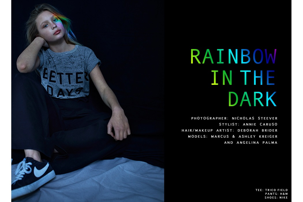 Editorial Rainbow in the Dark by Nicholas Steever #kidsfashion #kidseditorial #rainbow #NicholasSteever