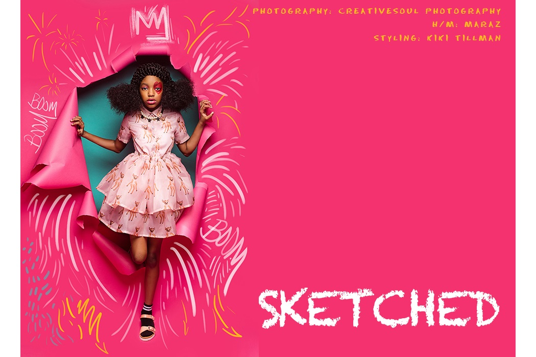 Editorial Sketched by Creative Soul #creativesoul #editorial #kidsfashion #girlswear