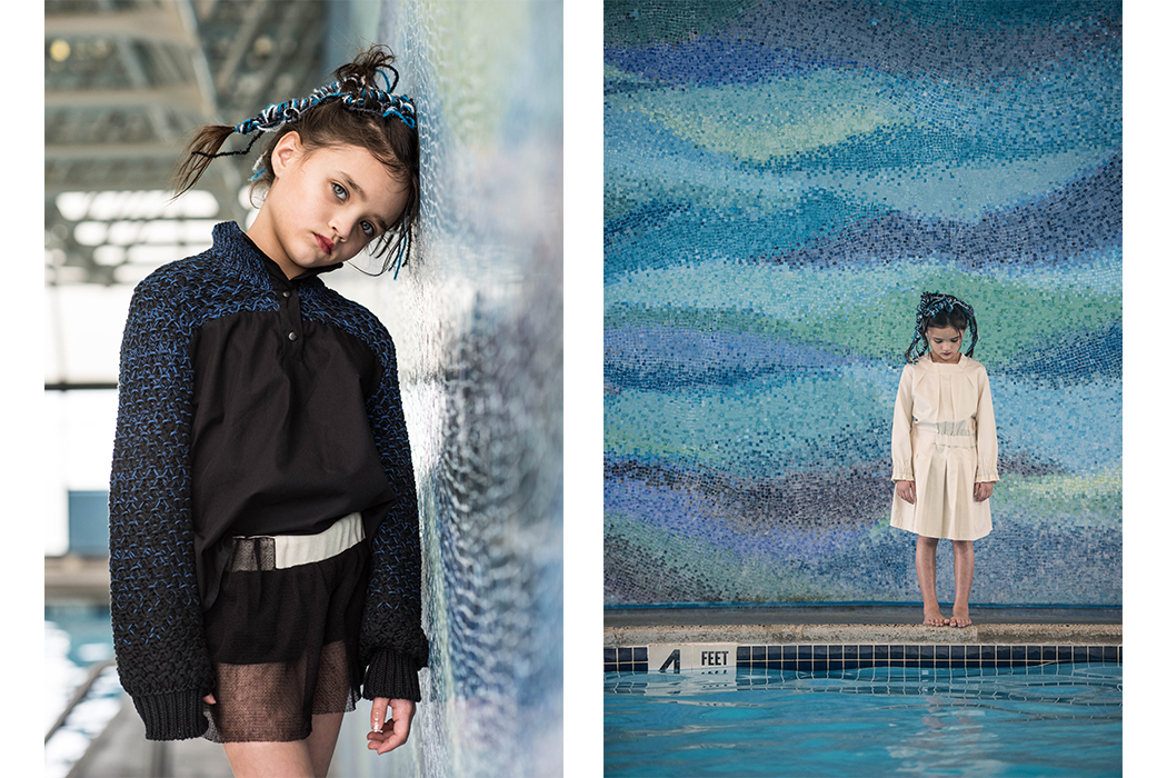 Infantium Victoria Brand Profile. Photography by Josephina Carlier AW18 Marine Symbiosis collection from the vegan kids fashion label