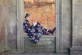 Ticking Stripe: Framed Print with Carlota Barnabe