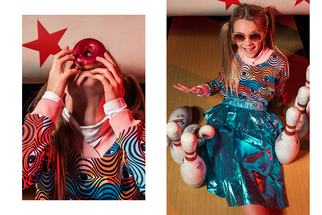 Editorial: Bowling You Over Kids Fashion Editorial by Bear and Pine Photography