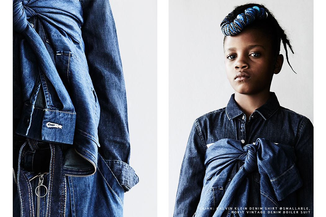 Editorial: Bleu Daze By Damian Weilers #denim #damianweilers #juniorstyle #kidseditorial