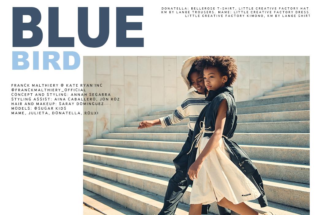 Hooligans Magazine: Blue Bird By Franck Malthiery #hooligansmagazine #franckmalthiery #kidseditorial #littlecreativefactory