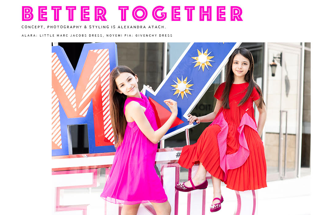 Editorial: Better Together By Alexandra Atach #alexandraatach #kidsphotographer #kidseditorial #kidsfashion #designer #littlemarcjacobs #dkny #noyemipia