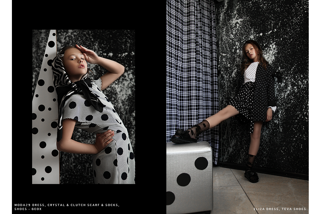Editorial: Black & White By Anastasia Shestakova