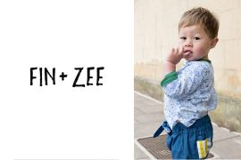 Fin + Zee Ethically made gender neutral clothing for babies and kids
