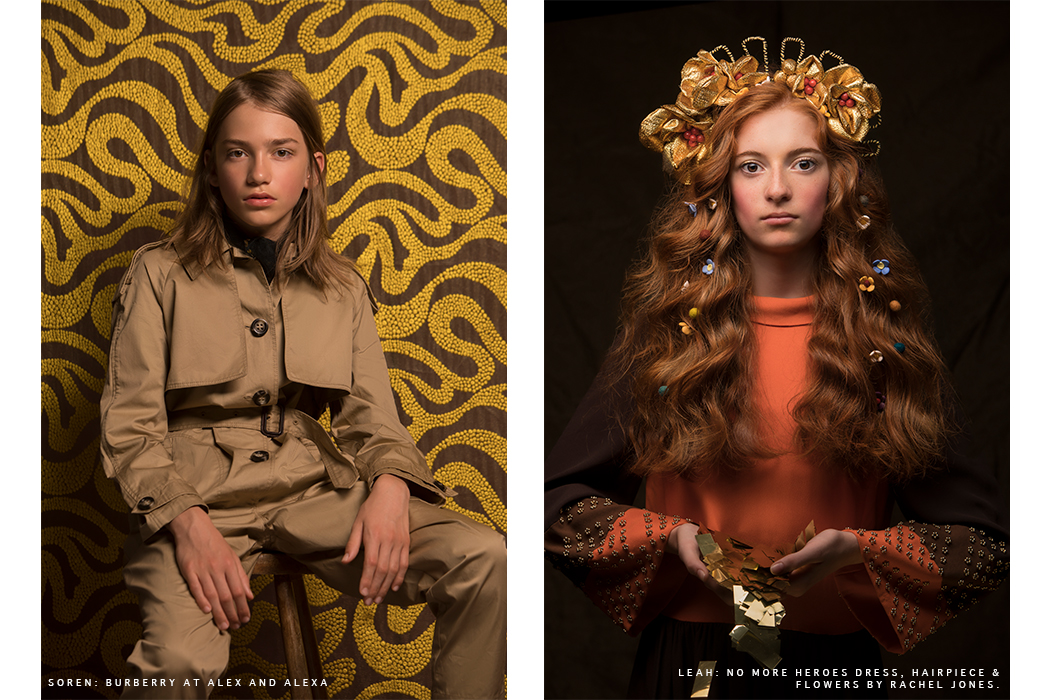 Editorial: The Bold Romantics by Julia Boggio Studios Klimt style kids fashion shoot