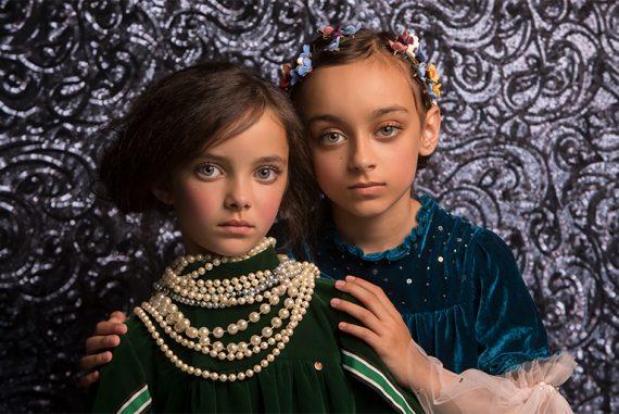 Editorial: The Bold Romantics by Julia Boggio Studios Klimt style kids fashion shoot