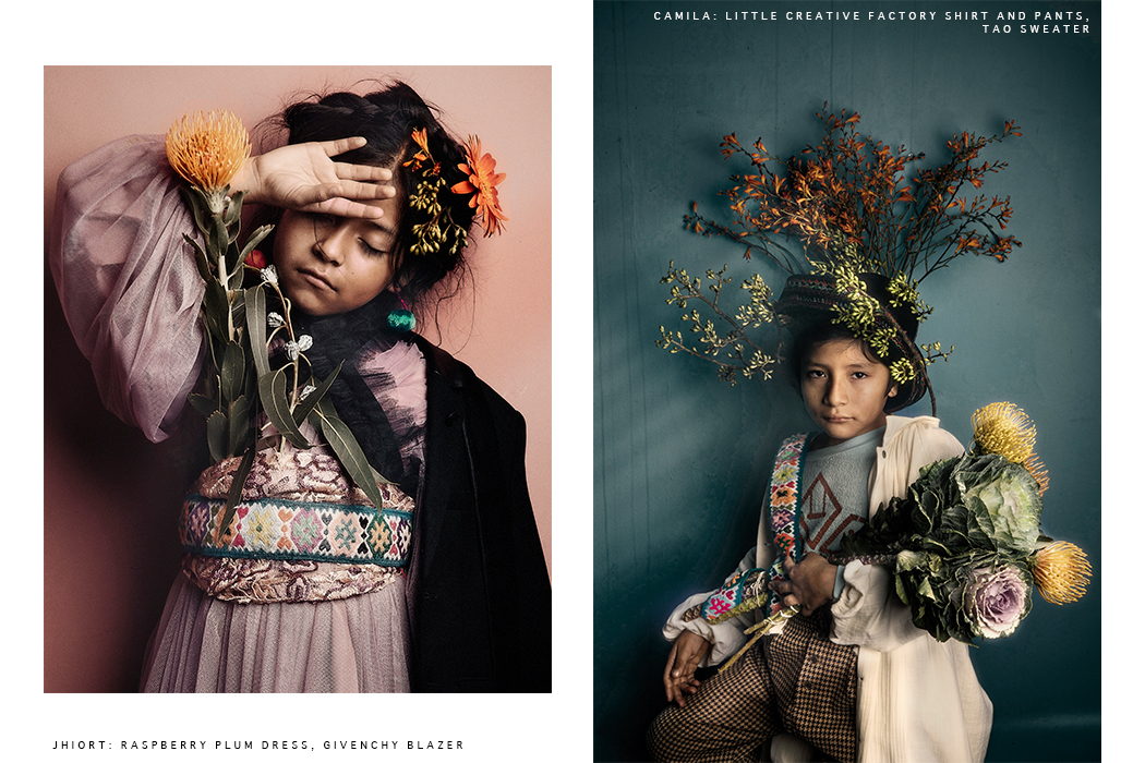 Hooligans Magazine Editorial: The Eyes Of The Incas by Isabel Pinto. Kids Fashion editorial