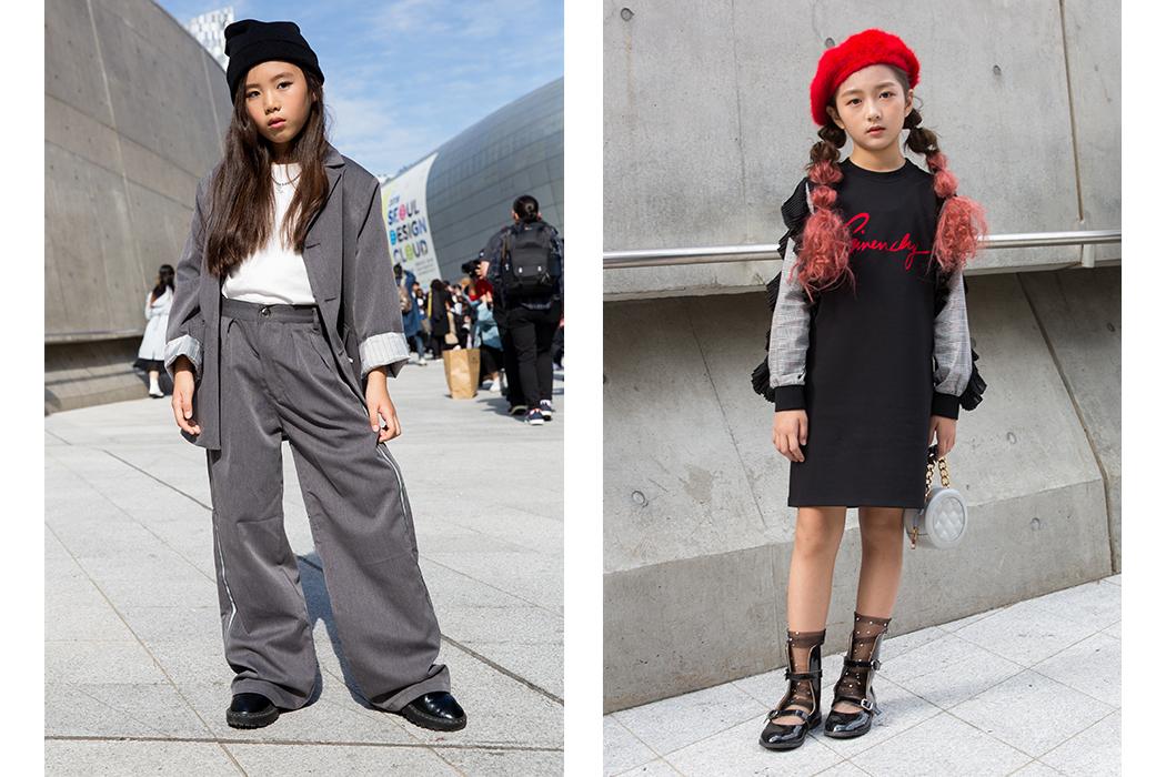 Mini Street Style At Seoul Fashion Week #streetstyle #kidsfashion #seoulfashionweek