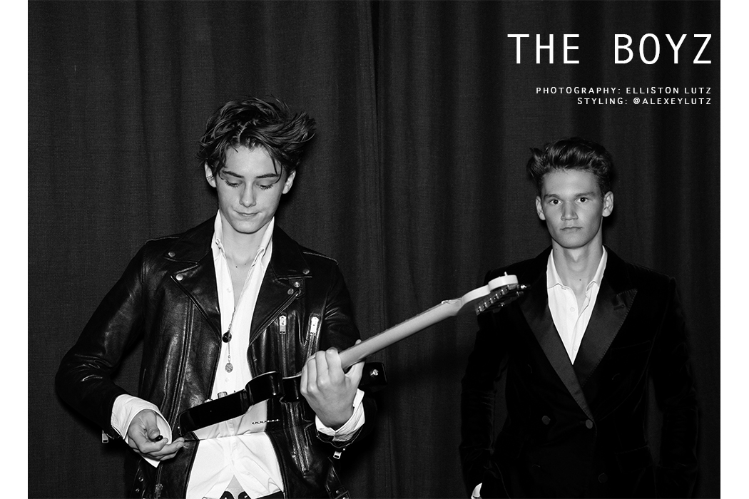 Elliston Lutz teen boys fashion editorial, The Boyz featuring William Franklyn Miller