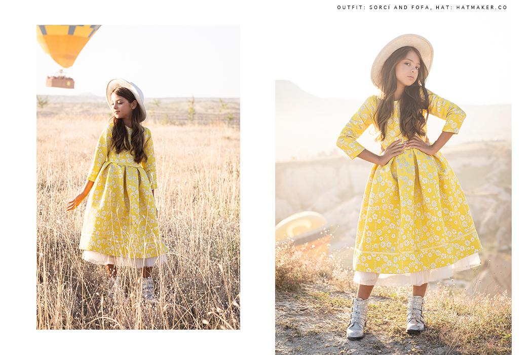 Editorial: WanderLust by Alexandra Atach featuring Noyemi Pia #imoimkids #turkey #cappadocia #hotairballoons #kidswear #girlswear #editorial #kidsfashion