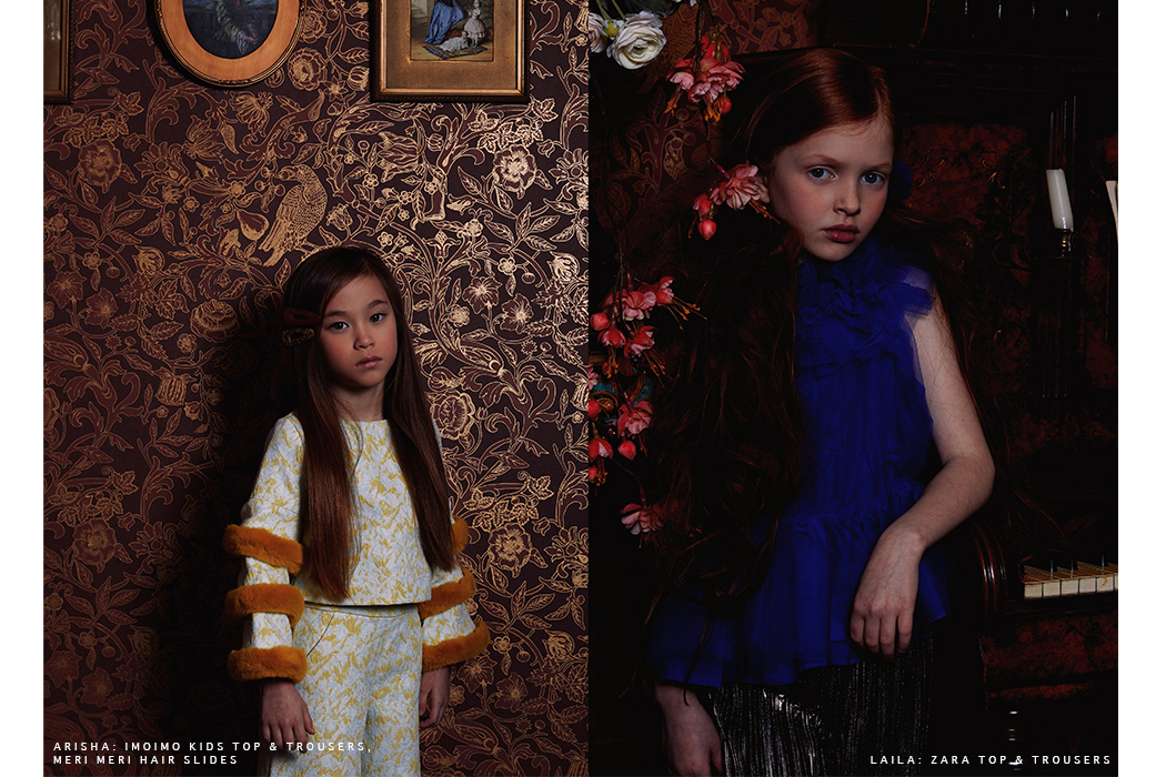 Editorial: Renaissance Girls featuring Imoimo Kids Clothing