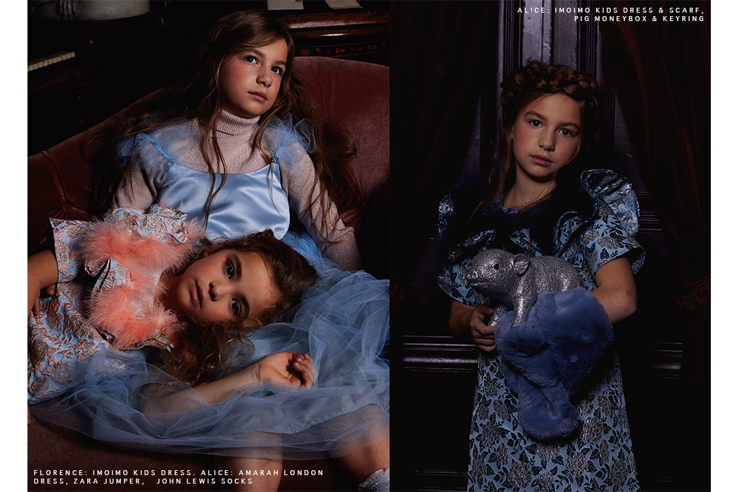 Editorial: Renaissance Girls featuring Imoimo Kids Clothing label for girls. Korean Fashion Brand for girls