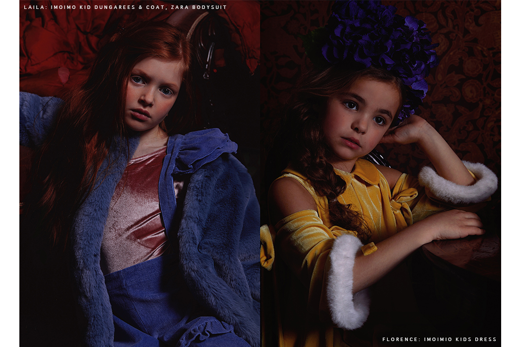 Editorial: Renaissance Girls featuring Imoimo Kids Clothing label for girls. Korean Fashion Brand for girls.