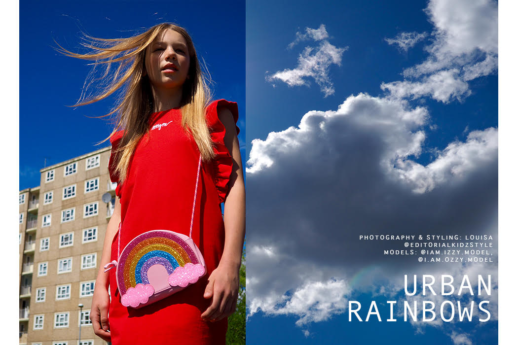 Feature: Urban Rainbows #rainbows #kidmodel #teenmodels #teenfashion #rainbow #lockdown #covid #quarantine life