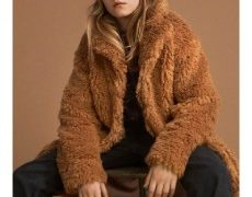 Haili is a soft, light brown teddy coat