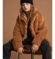 Haili is a soft, light brown teddy coat